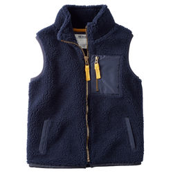 Carter's Toddler Boys Full-Zip Vest - Navy - Size: 2T-5T