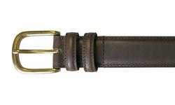 Van Heusen Belt Double Stitch & Loop with Brass Buckle - Size: 35MM/34