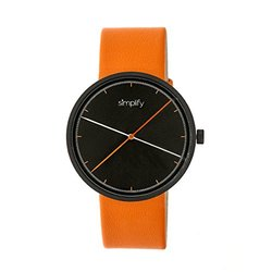 Simplify The 4100 Men's Watch: SIM4103 Orange Band-Black Dial