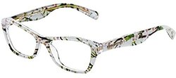 Dolce & Gabbana DG3202 Eyeglasses-2843 Aqua Peach Flowers-47mm