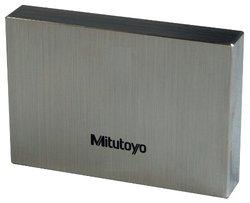 Mitutoyo Steel Rectangular Gage Block, ASME Grade 0, 1.12 mm Length