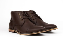 Royal Mens' Cap Toe Chukka Boots - Brown - Size: 13