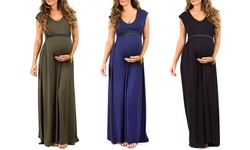 Women's Maternity Maxi Dress: Rose/xl