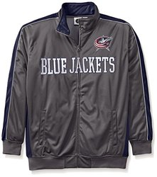 Majestic NHL Men's Columbus Blue Jacket - Charcoal/Navy - Size: 2X