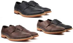 Vincent Cavallo Men's Cap Toe Dress Shoes - Black - Size: 12