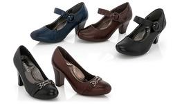 Rasolli Women's Comfort Career Dress Shoes - Navy - Size: 11