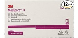 """Medipore 3m H Soft Cloth Surgical Tape 24 Rolls - Size: 1"""" x 10 Yards"""