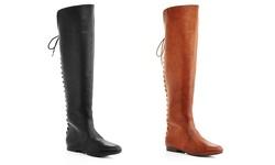 Eddie marc Women's Over-the-Knee Boots - Geri/Camel - Size: 11