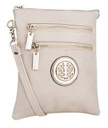 MKF Women's Arabelle Exceptional Crossbody Handbag - Beige