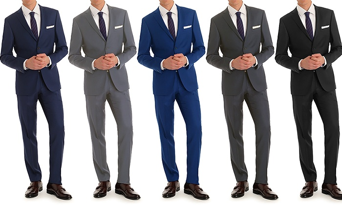 Vincent Moretti Men's Slim-Fit 2-Piece Suits - Navy - 38rx32w ...