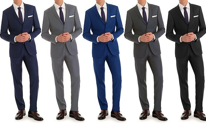 Vincent Moretti Men's Slim-Fit 2-Piece Suits - Navy - 38rx32w ...