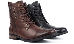 Bonafini Men's Combat Fashion Boots - Brown - Size: 8.5