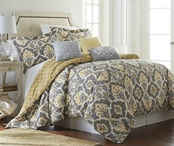 Cotton 6-piece 200 Tc Comforter Set: Shana/queen