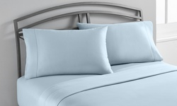 Wexley 1200tc Cotton-rich Sheet Set 6Pc - Celestial/Blue - Size: Queen