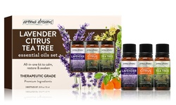 Aroma Dreams Therapeutic Grade Essential Oils Set - Lavender & Citrus