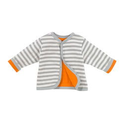 Giggle Better Basics Reversible Cardigan Organic Cotton - Gray Striped