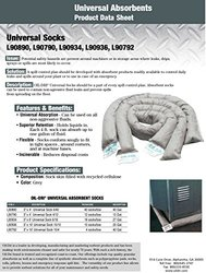 "Oil-Dri L90934 3"" Diameter x 6' L Grey Universal Absorbent Sock with Recycled Cellulose Filling, (18 Socks/Box)"