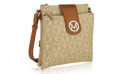 MKF ISABEAU Logo High-Quality Fabric Crossbody Bag - Beige