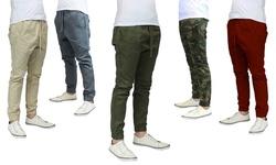 Galaxy By Harvic Men's Twill Jogger Pants - Black - Size: Medium