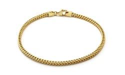 Men's 14K Solid Yellow Gold Italian Franco Bracelet