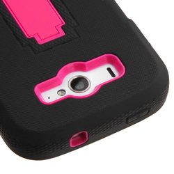 ZTE Imperial 2 II N9516 Hot Pink/Black Symbiosis Stand Case Cover