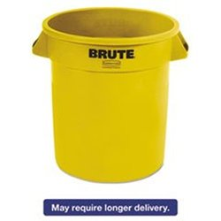 Utility Container, 10 gal., LLDPE, Yellow