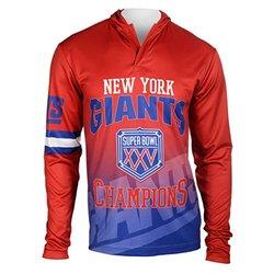 NFL New York Giants Super Bowl XXV Champions Hoody Tee, Medium