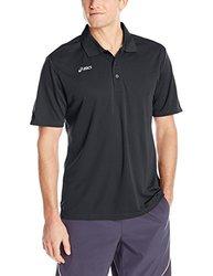 ASICS Men's Team Performance Polo Shirt, Black, Small
