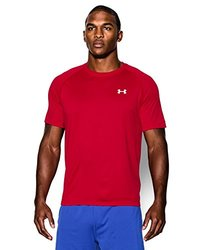 Men?s UA Tech? Shortsleeve T-Shirt Tops by Under Armour(Red/White, Large)