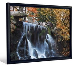 "JP London FCNV2148 Framed Gallery Wrap Heavyweight Canvas Art Wall Decor (Tranquil Waterfall In Rocky Forest River at 20.375"" High x 26.375"" Wide x 1.25"" Thick)"