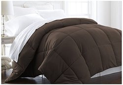 ienjoy Home IEH-COMFORTER-KING-CHOCOLATE Home Collection Premium Luxury Down Fiber Comforter, California King, Chocolate