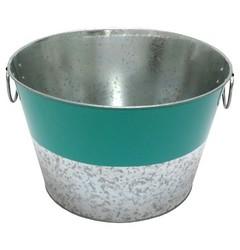 Summer Round Beverage Galvanized Steel Tub - Teal