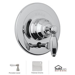 Rohl A2400LPAPC Country Bath Kit for Pressure Balance, with Porcelain Lever and Diverter, Polished Chrome