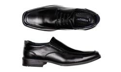Bonafini Men's Classic Black Dress Shoes - Black - Size: 7.5