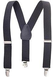 "Solid Color Children's Wide Elastic Suspenders - Size: 1"""