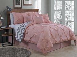 Avondale Manor Venice & Ella Pinch Comforter Set - Ella-Blush - Size: K
