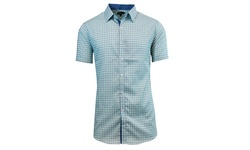 Galaxy By Harvic Men's Short Sleeve Button Down - Mint - Size: XL