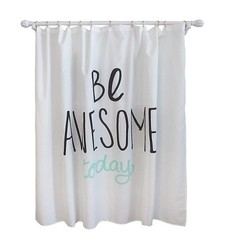 """Pillowfort 72"""" x 72"""" Be Awesome Shower Curtain"""