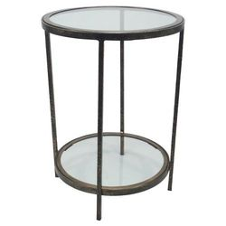 Threshold Round Metal & Glass Accent Table