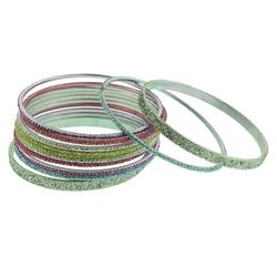 Girls'  Bangle Bracelets - Multi Color - 12-Pack