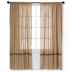"""Natural 84"""" x 55"""" homethreads Solid Curtain Panels - Multi-Colored"""