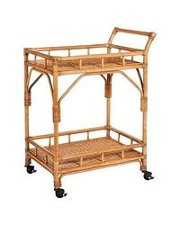 Threshold Rattan Bar Cart With Casters