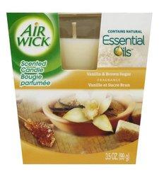 Air Wick Scented Candle Vanilla & Brown Sugar - 3.5 Oz