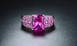 Sevil Women's 5 CTTW Genuine Ruby Engagement Ring - Size: 8