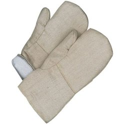 "Bob Dale 14"" High Heat Woven Fiberglass Mitt with Melton Lining - Beige"