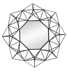 Nate Berkus Geometric Mirror - Black