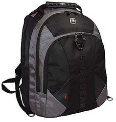 "Swiss Gear Pulsar 16"" Padded Laptop Backpack - Black/Grey"