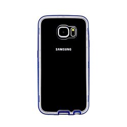 VOIA Air Shield Bumper Jelly Case for Galaxy S6 Edge - Retail Packaging - Blue