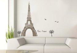 Art Appliques Tour Eiffel Tower Wall Decals
