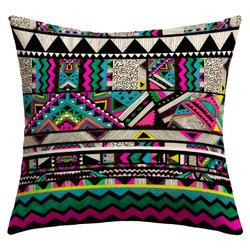 "Deny Designs Kris Tate Fiesta Outdoor Pillow - Multi - Size: 16"" x 16"""